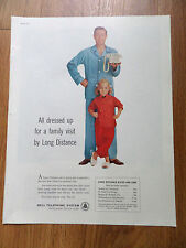 1960 Bell Telephone Ad All dressed up for a Family Visit by Long Distance