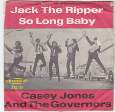"""Single 7"""" Casey Jones and the Governors """"Jack the Ripper/so long Baby"""""""