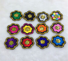 12style/set Embroidered Flowers Patches Badge Iron on Applique Patch Craft DIY