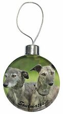 Whippet Dogs 'Soulmates' Sentiment Christmas Tree Bauble Decoration G, SOUL-41CB