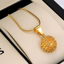 "Charms 18K Yellow Gold Filled Fashion Lucky Pendant Necklace 18""Chain GF Jewelry"