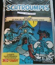 NEW CRUSHED BOX  SCHTROUMPFS SMURF Gargamels Castle Colecovision  FRENCH Ver