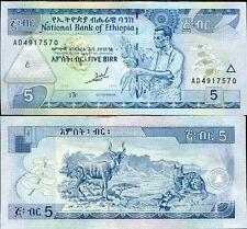 ETHIOPIA 5 BIRR 1989/1997 P 47 a UNC