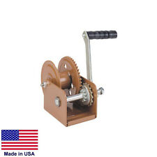 "HAND WINCH Trailer Winch - Heavy Duty - 800 Lb Cap - Holds 68 Ft of 3/16"" Rope"