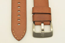 22mm BROWN  genuine leather watch band  heavy duty strap