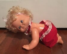 Vintage 1974 Mattel Baby That A Way Crawling Doll W/ Original Clothes Working