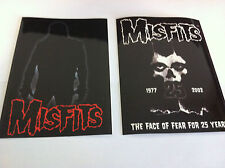 THE MISFITS 2-Pack of Stickers Silhouette & Face Of Fear NEW OFFICIAL Danzig