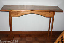 """50"""" Rustic Primitive stained wood wooden Long Tall Couch Wall Side Foyer Table"""