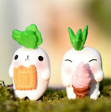FD2377 White Carrot Miniature Dollhouse Ornament Flower Pot Aquarium Craft 1pc ♫