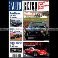 AUTO RETRO N°177 PROTOTYPE JEEP KAISER DARRIN CYCLECAR KARMANN GHIA TYPE 14 & 34
