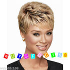New Vogue Sexy Women's Short Blonde Brown mix Party Curly Wigs Fashion Girls Wig