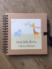 Personalised Baby Shower Memory Scrapbook With Wishes And Prediction Cards