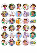 30 x Dora the Explorer Edible Rice Wafer Cupcake Toppers
