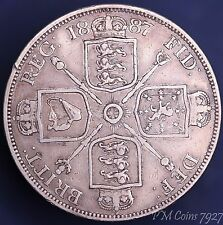 1887 Victoria Jubilee Head Silver 925, Double Florin, 4 Shilling coin [7927]