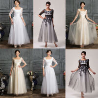 PLUS SIZE Swing Tea Length VINTAGE Bridesmaids dresses long Formal evening gowns
