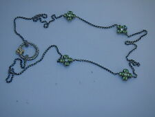 BARBARA BIXBY STERLING 18K PERIDOT FLOWER CHAIN NECKLACE 22 INCH NEW