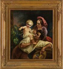 Italienischer Meister  BILD PORTRÄT GEMÄLDE 19. Jhdt. Öl/Lwd., 58 x 52 cm.