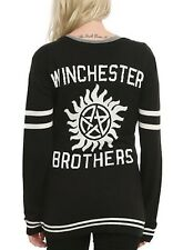 Supernatural Winchester Brothers Cardigan Sweater Size Medium New With Tags!