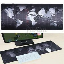Large Non-Slip World Map Game Mouse Pad Mat For Laptop Computer Keyboard 70*30CM