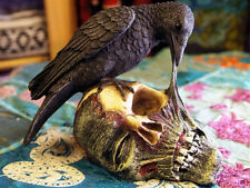 RAVENS REVENGE SKULL FIGURE Ornament Horror GOTHIC ZOMBIE PAGAN Celtic WICCAN