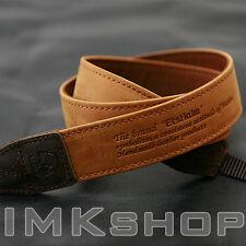 NEW MATIN Vintage-30 TAN DSLR SLR Camera Neck Shoulder Leather Strap for Canon