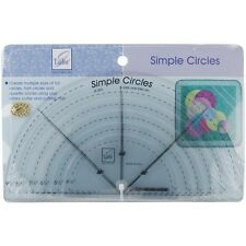 June Tailor Simple Circles Rotary Cutting Rulers - 086312