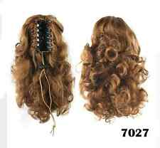 Medium Length Curly Clip In Ponytail Hair Extension Claw On Hairpiece 4 Colors
