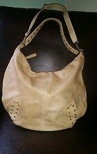 Italian Designer GIANNI NOTARO Taupe Italian Pebble Leather XL Hobo Shoulder Bag