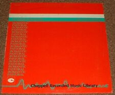 MUSIC LIBRARY CHAPPELL pastoral/romantic COLIN TOWNS 1984 UK STEREO LP