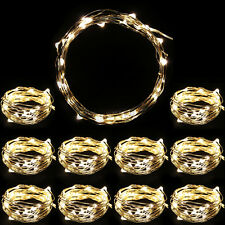 10x Battery Powered Copper Wire 30 Led String Fairy Light 3M/10FT Warm White US