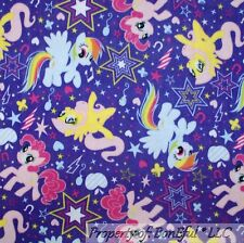 BonEful Fabric Fleece BTHY 1/2 Yd Purple My Little Pony Rainbow Girl Star Party