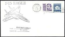 F-15 EAGLE JET AIRCRAFT SPACE SHUTTLE TILE FLIGHT TEST February 1976 Space Cover