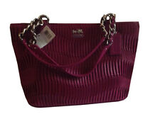 COACH NWT MADISON GATHERED LEATHER ZIP TOP TOTE/SHOULDER HANDBAG PURSE