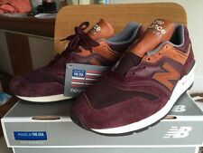 New Balance 997 Burgundy Ski Pack Horween Leather 9.5 White Gray 998 m997dslr