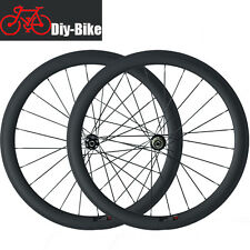 700C Carbon Cyclocross Wheelset 50mm Carbon Clincher Road Bike Disc Brake Wheels