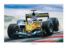POSTER ARTWORK PRINT / DESSINS F1 RENAULT R25 F. ALONSO  by CLOVIS