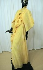 """Original ZANDRA RHODES """"Fortuny"""" pleated soft print PEIGNOIR & Matching Gown Med"""