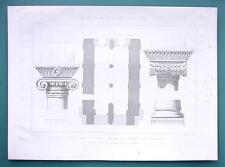 ARCHITECTURE PRINT 1872: JERUSALEM Temple Haram-Esh-Sherif Golden Gate Capitals