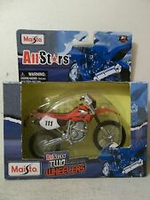 2009 MAISTO ALL STARS 1/18 SCALE 2002 HONDA XR400 XR 400 RED OFF ROAD DIRT BIKE