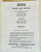 Tokheim 300, 305 and National 360 & 365 Gas Pump Parts Manual BK-TOK300MAN