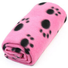New Lovely Paw Print Soft Warm Fleece Pet Blanket Dog Cat Mat Puppy Bed Sofa