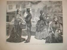 A Fancy Bazaar at Ventnor Isle of Wight UK 1871 print
