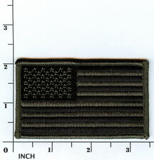 """United States American FLAG 3.5"""" Subdued OD camouflage PATCH Stars & Stripes USA"""