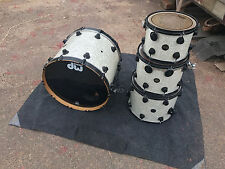 DW COLLECTORS 4pc DRUM SET KIT WHITE PEARL made in 2000 22,12,14,16