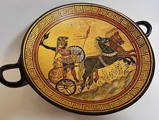 Warrior Soldier Chariot Greek War Hellenic Ancient Art Pottery Tray Kylix