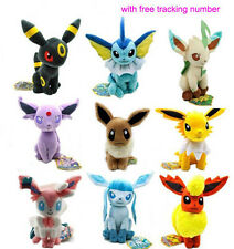 9PCS New Pokemon Evolution of Eevee Plush doll Toy Eeveelution Set of 9pcs Hot