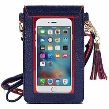 Apple iPhone 7 Plus 7 Case Bag Soft Leather Pouch Shoulder Strap ShockProof New