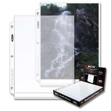 2 Boxes (200) Bcw Brand 1 Pocket Pages 8 x 10 Photo Storage Pages Holder