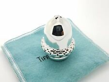 Rare Tiffany & Co. Sterling Silver Small Acorn Gilted Sale/Pepper Shaker & Pouch