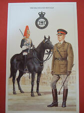 MILITARY POSTCARD-BRITISH ARMY SERIES - BLUES AND ROYALS BY DOUGLAS N ANDERSON
